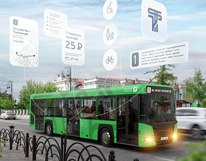 Tyumen public transportation corporate identity