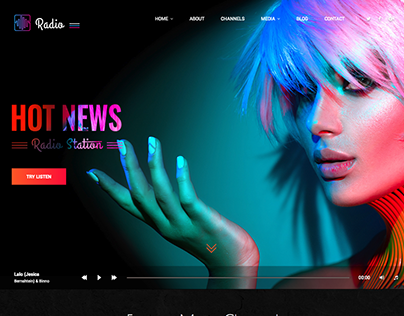 Hot radio Bootstrap 4 HTML Template
