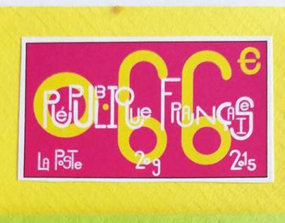 La Poste- Timbres (Stamps) Republique Francaise