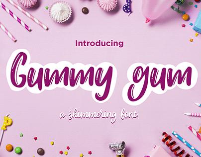 Gummy gum font