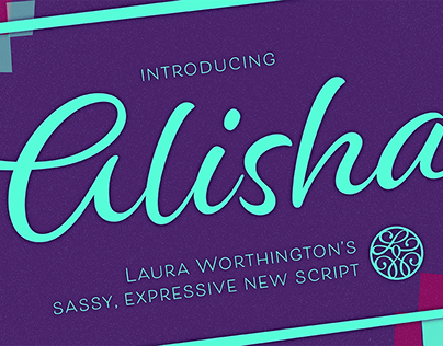 Alisha - a brush lettered script font