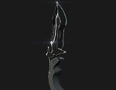 Huntsman Knife VR / AR / low-poly 3d model