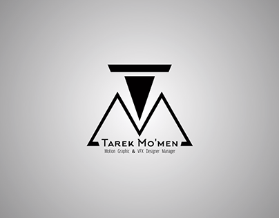 Tarek Mo'mens Logo Intro Glitch Effect