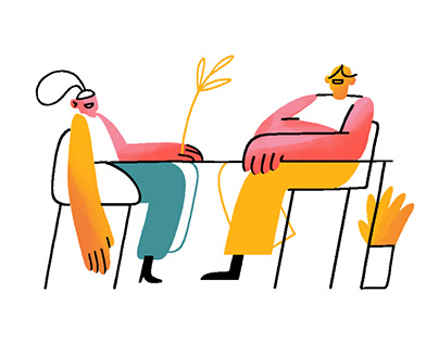 Co-working Illustrations