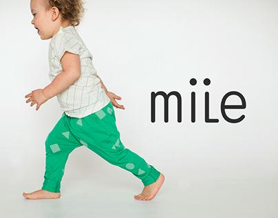 Webdesign of children's clothes online store