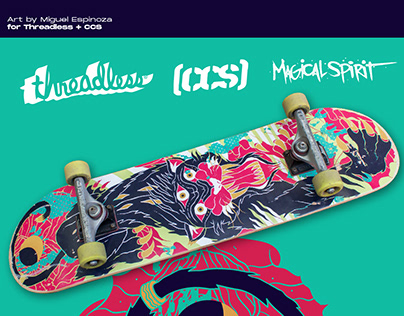 Skateboard Graphic for Threadless + CCS