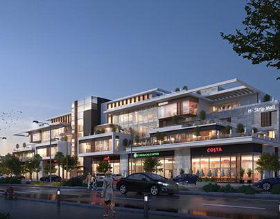 H-Strip Mall   Design & Visualizations