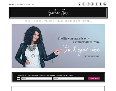 Sahar Paz Branding & Website