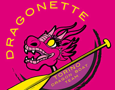 Illustration for the Dragonette-Torino Dragon Boat team