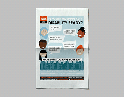 Poster Design   GMB London   Disability Ready