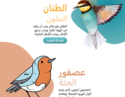 A site to sell a book on bird species for children