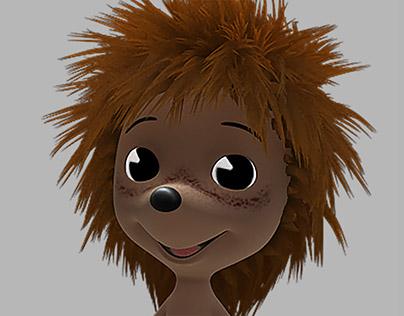 Animated hedgehog for rendering (Sep 2012)