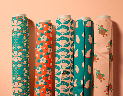 FABRIC PATTERNS DESIGN AND FASHION COLLECTION CONCEPT
