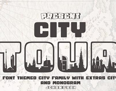 City Tour Font themed