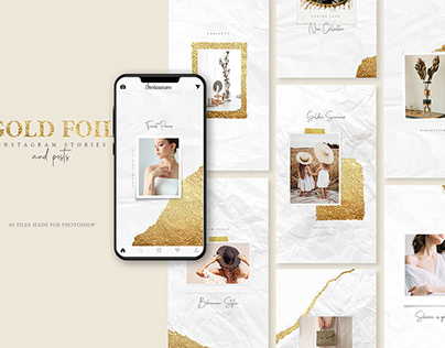 Gold Foil - Instgram Stories & Posts