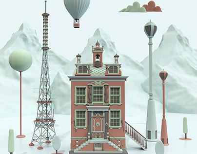 Fairytale Cityscape