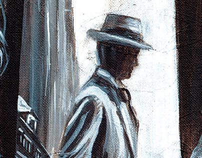 Illustration: Crossroads II: 14x18 Acrylic on canvas.