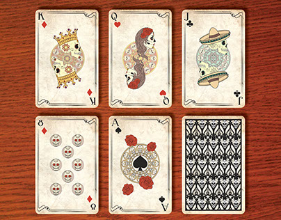 Playing Cards Design | Art Nouveau & Day of the Dead