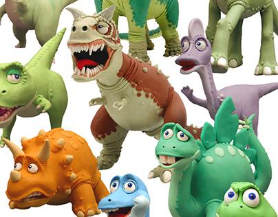 Dinosaurs / plasticine