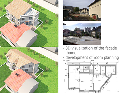 3D visualization of the facade home development