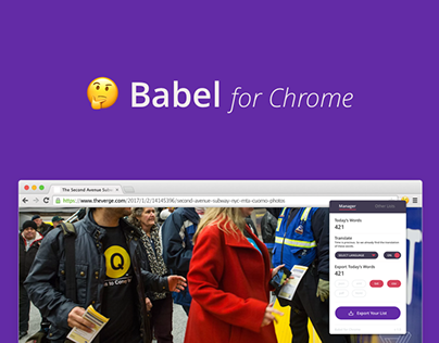 Babel for Chrome #app #extension #ui_ux