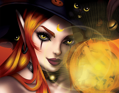Witch and Kittens
