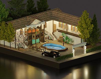Persian Isometric House