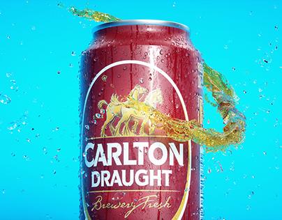 Carlton Draught Beer Flow Animation