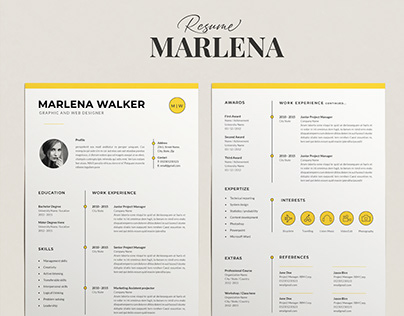 Resume Template Marlena