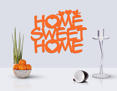 Template for laser cutting Home Sweet Home with birds