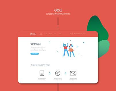 Outdoor Education Activities - Web design