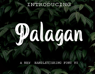 Palagan Hand Lettering Font