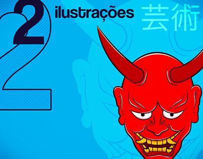 "Digital Art Compilation #2 ""Japanese Horror Characters"""