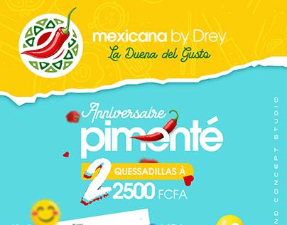 Flyer Promotionnel pour l'anniversaire La Mexicana