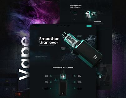 Vape For Real Web Design