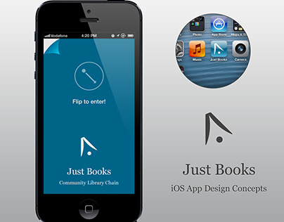 Just Books Application Concept