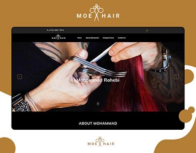 MOE HAIR - salon website design