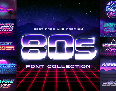 Best 80s Fonts Collection