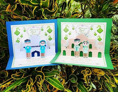 Eid Mubarak Edition - Pop up card & 3DPapercraft
