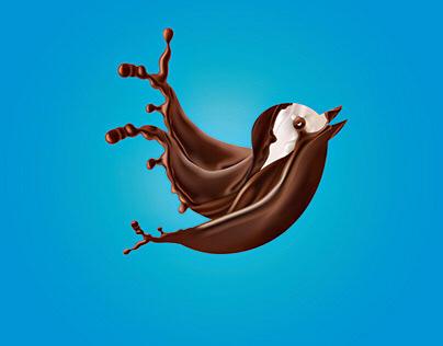 Twitter Chocolate Logo