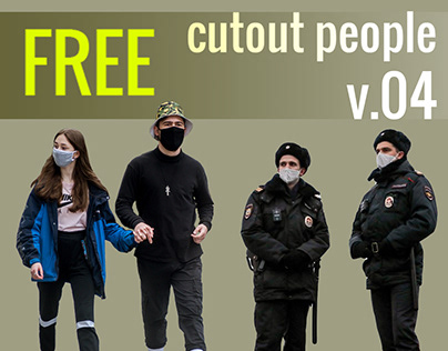 Free Cut Out People Vol. 04 - MASK PACK