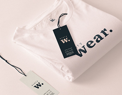"""Logotype for """"Every Wear"""" online clothing store."""