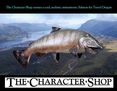 We created an Animatronic Salmon for Travel Oregon!