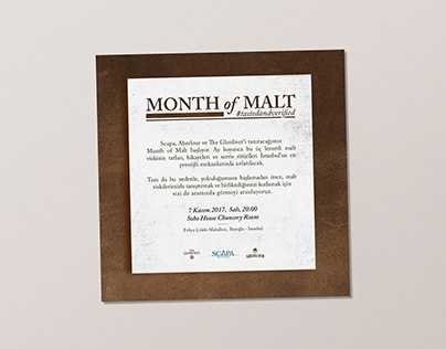 Month of Malt Inviation and Product Design
