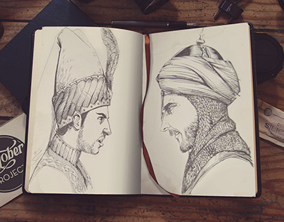 Ottoman VS. Persian Inktober ☪