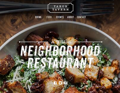 Tabor Tavern Restaurant Website Redesign