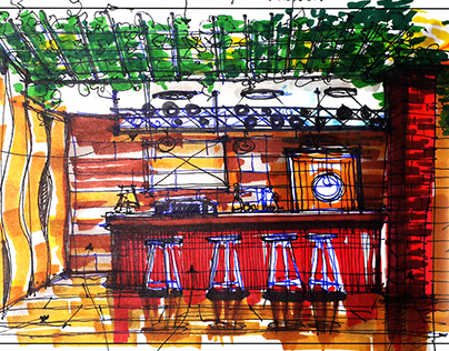 Bar Project in ethnic style