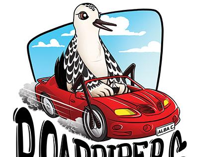 Roadpipers T-shirt print