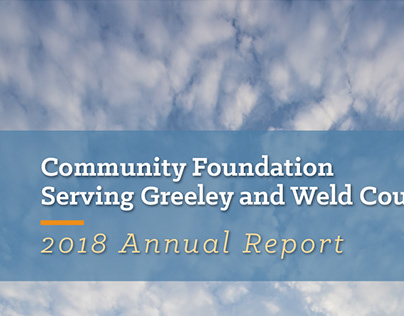 Community Foundation 2018 Annual Report Brochure