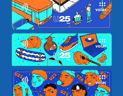 Diseño de stickers para U25 Itaú